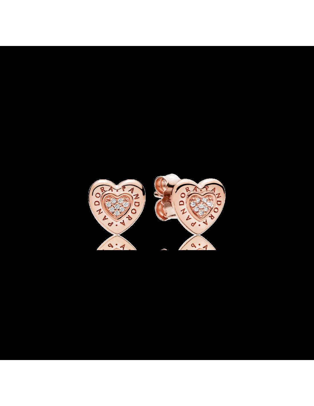 Orecchini Pandora Rose Cuore Logo